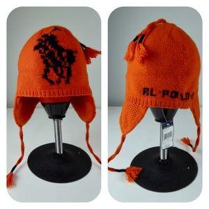 Polo Ralph Lauren Tassels Knit Big Pony Wool Hat